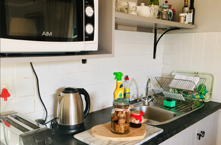 Claremont Rose Cottage - self-catering cottage kitchen facilities suitable for small & simple meals for up to 4 persons.
